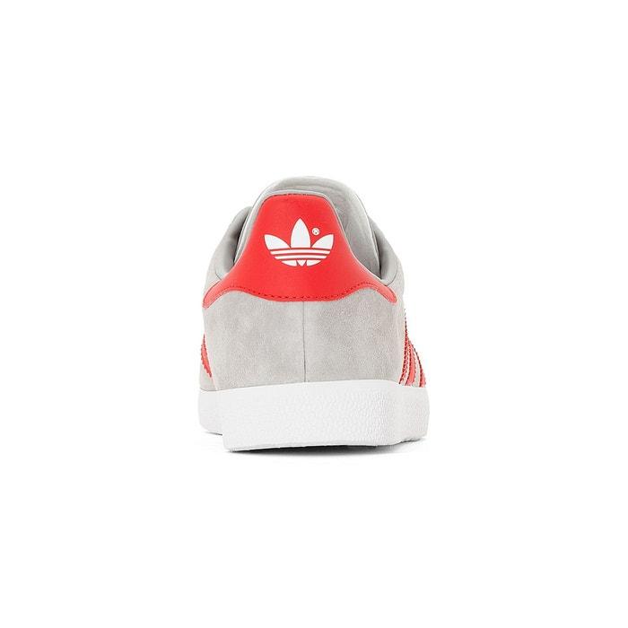Baskets gazelle gris/rouge Adidas