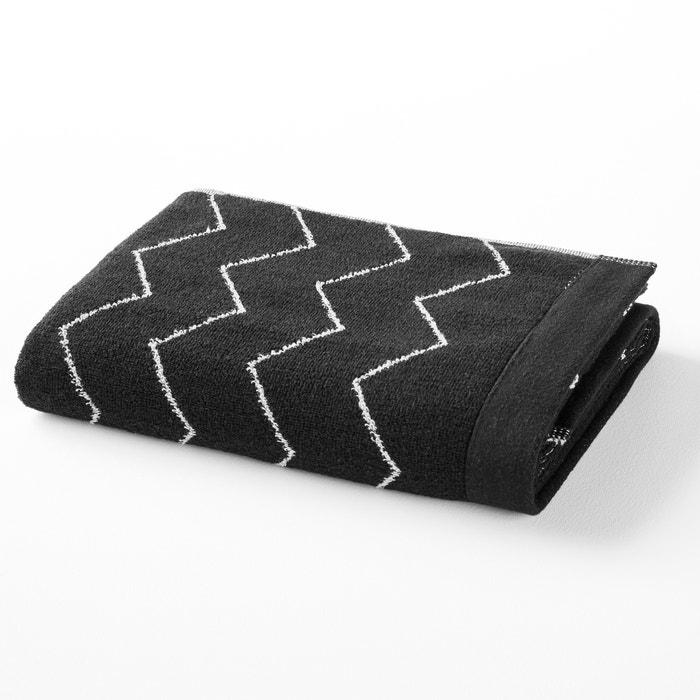 serviette ponge r versible coton sines la redoute interieurs blanc noir la redoute. Black Bedroom Furniture Sets. Home Design Ideas
