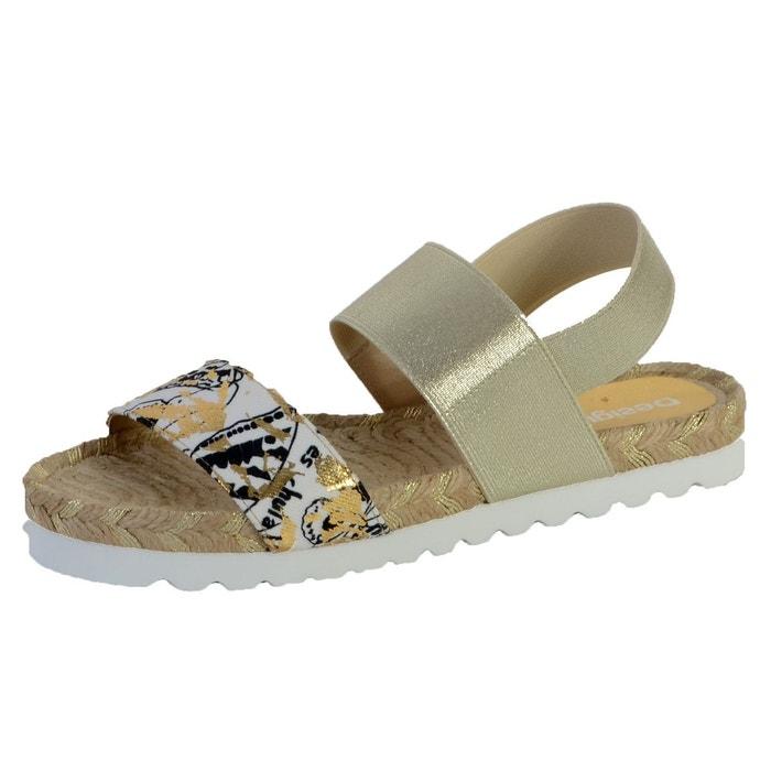 Sandales formentera noir beige Desigual