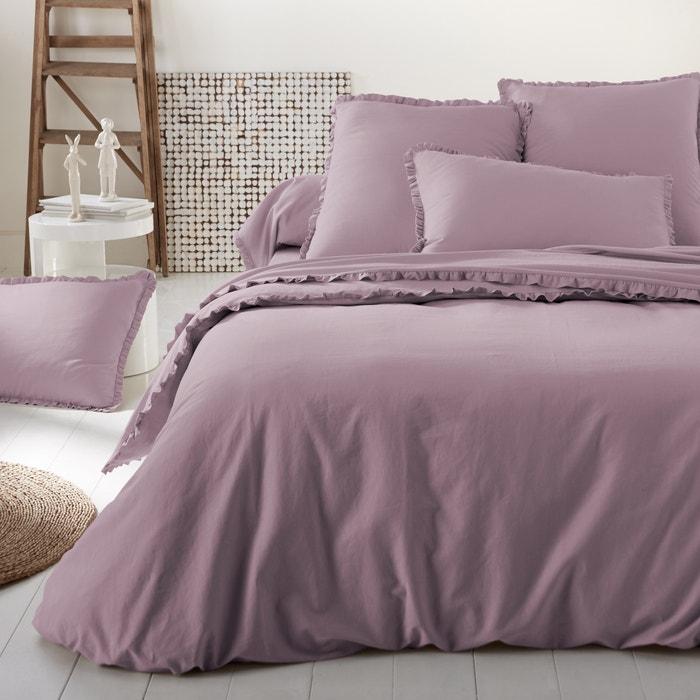 bettbezug uni ondina vorgewaschenes halbleinen la redoute interieurs la redoute. Black Bedroom Furniture Sets. Home Design Ideas