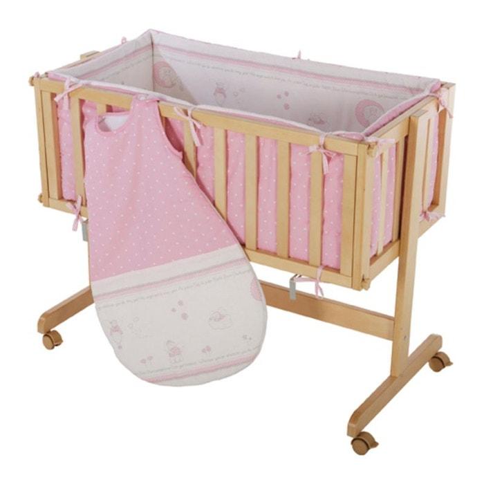 berceau cododo roba bois avec turbulette rose couleur unique roba la redoute. Black Bedroom Furniture Sets. Home Design Ideas