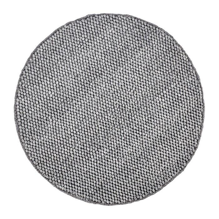 tapis rond m lange laine et viscose argent deladeco beluga argent deladeco la redoute. Black Bedroom Furniture Sets. Home Design Ideas