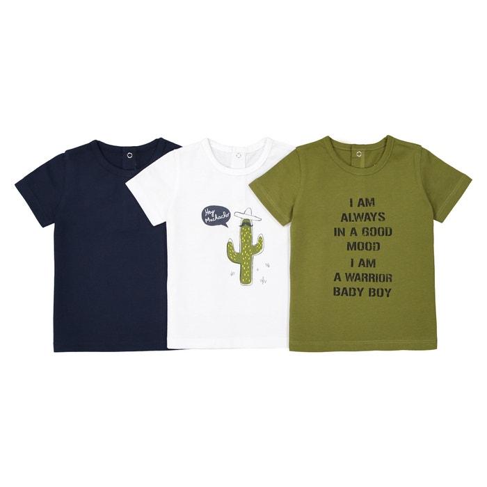 Confezione da 3 t-shirt maniche corte - 1 mese - 3 anni  La Redoute Collections image 0