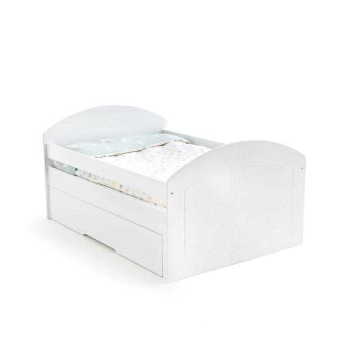 lit enfant volutif nutt o blanc la redoute interieurs la redoute. Black Bedroom Furniture Sets. Home Design Ideas