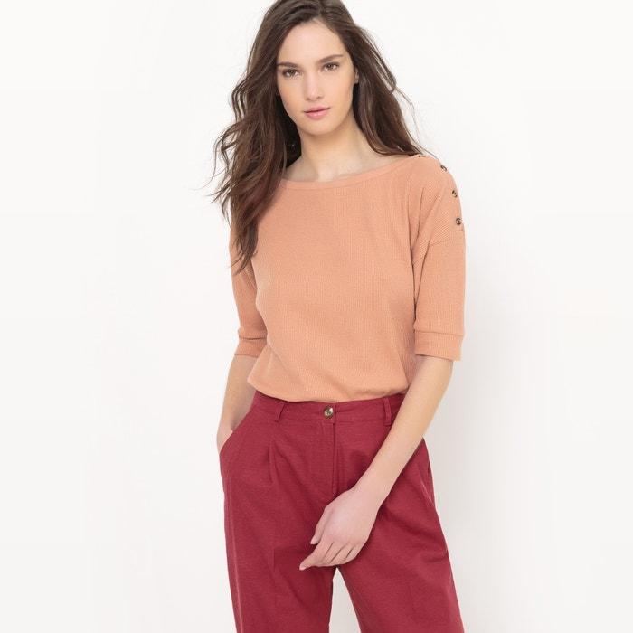 Image Tee shirt manches courtes, boutonné épaule La Redoute Collections