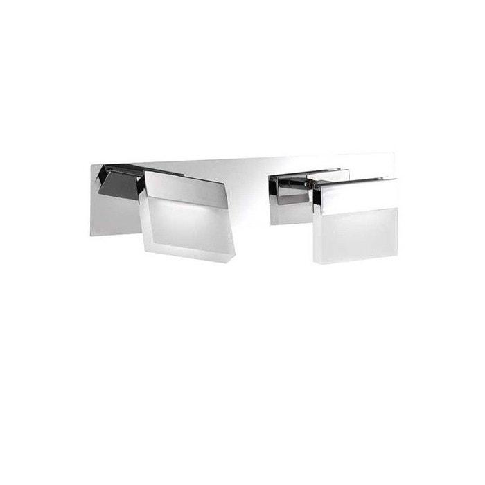 luminaire 2 led salle de bain classe 2 galat e blanc. Black Bedroom Furniture Sets. Home Design Ideas