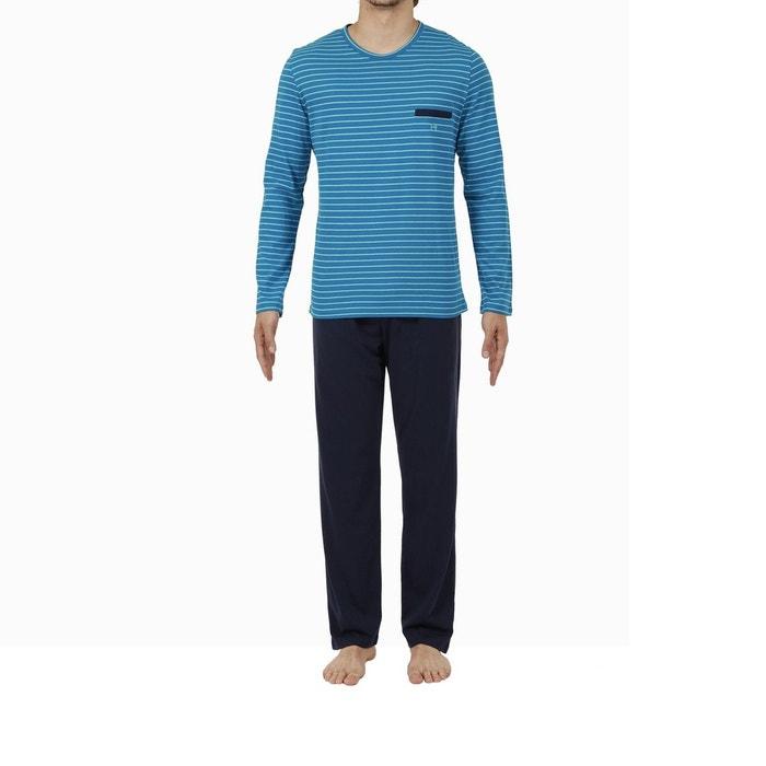 Pyjamas à manches longues à manches longues à rayures à la mode ( Couleur : Orange , taille : S )