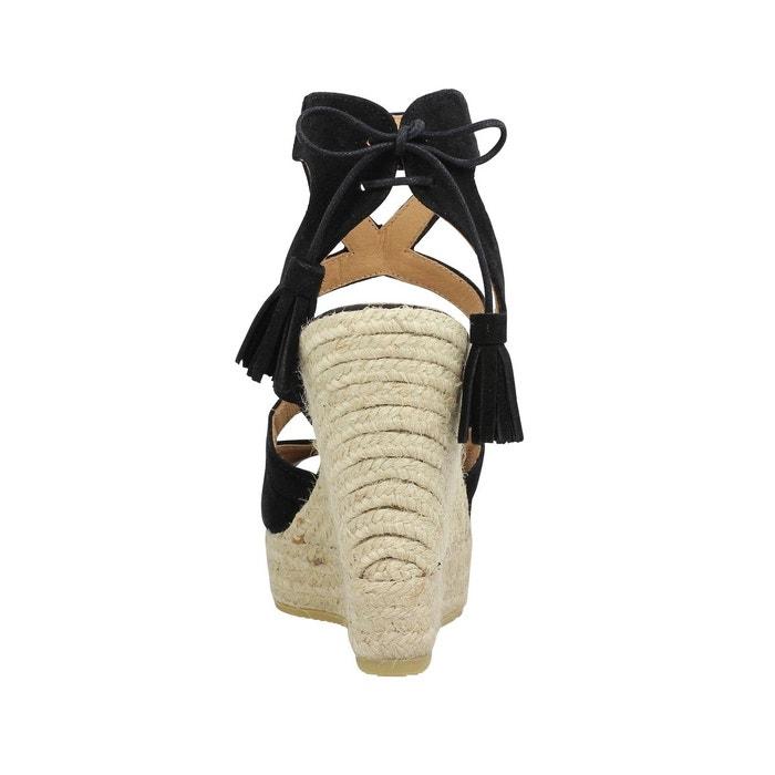 Compensées femme kanna 6022 velours-38-black black black Kanna