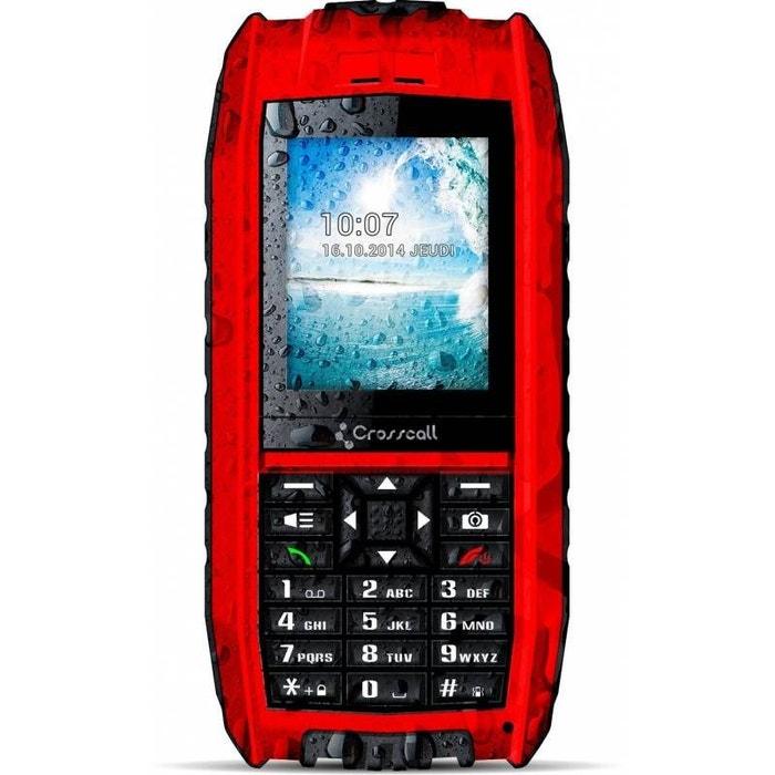 t l phone mobile tout terrain crosscall shark v2 rouge rouge crosscall la redoute. Black Bedroom Furniture Sets. Home Design Ideas