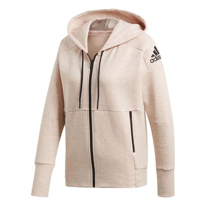 a8fa824cf3 Veste id stadium hoodie rose Adidas | La Redoute