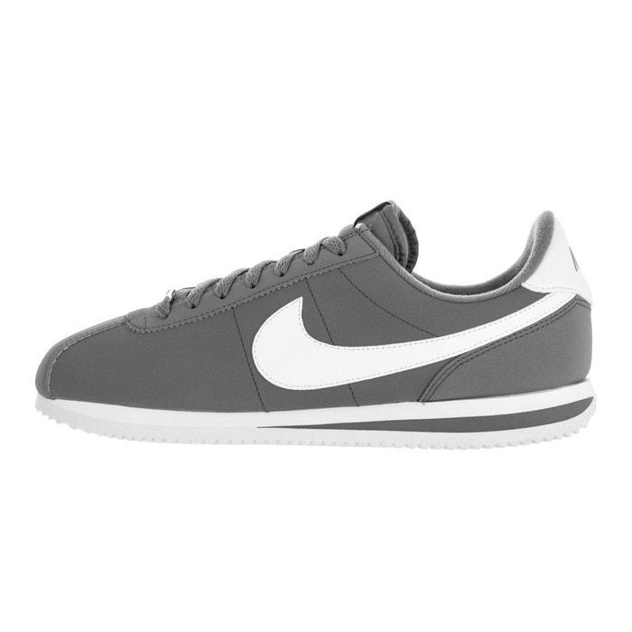 Basket nike classic cortez leather - 820644-011 gris Nike