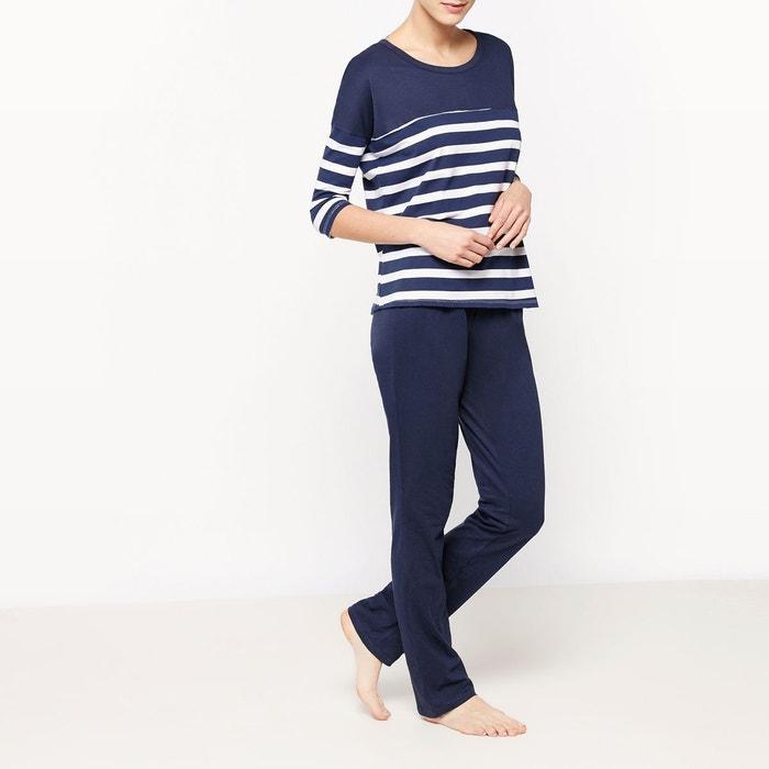 Pyjama rayé 2 pièces  LA REDOUTE COLLECTIONS image 0