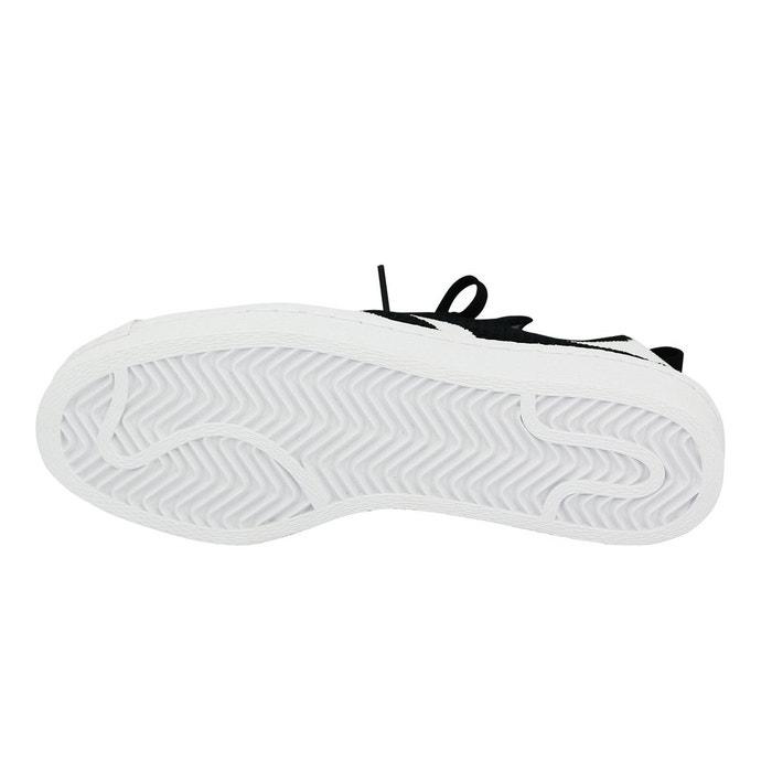 Adidas originals superstar 80s primeknit w chaussures mode sneakers femme noir blanc noir Adidas Originals