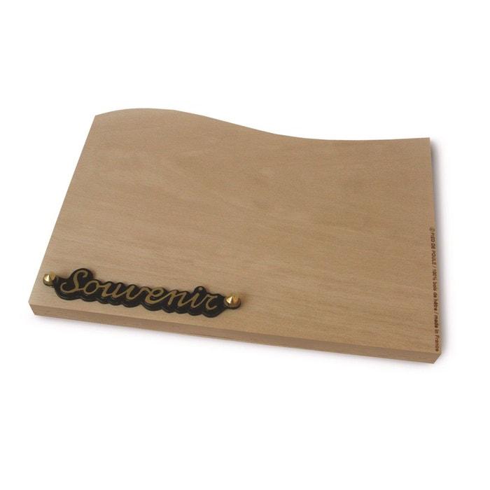 planche d couper design en bois de h tre souvenir beige pied de poule la redoute. Black Bedroom Furniture Sets. Home Design Ideas