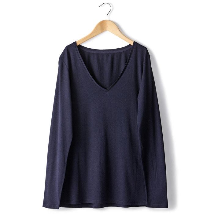Image T-shirt manches longues coton/modal R essentiel