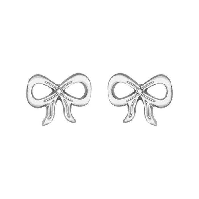 Boucles d'oreilles femme noeud flot ruban argent 925 couleur unique So Chic Bijoux   La Redoute Très Bon Marché Odpc2iTb0