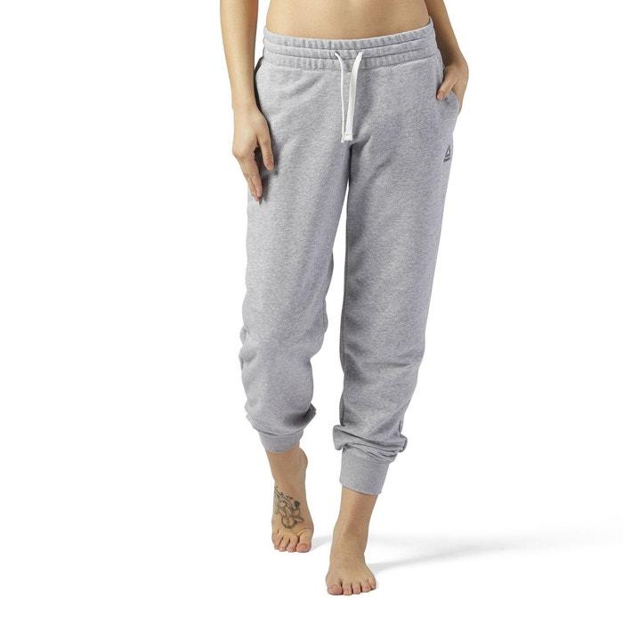 Pantalon de sport french terry pant gris Reebok  5463751e229