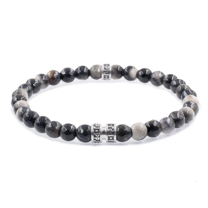 Bracelet perles agate noire et beige noir Pierre Paul Jacques | La Redoute Meilleur Pas Cher QQ7YgXS