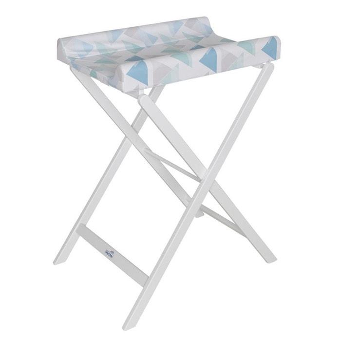 Table à Langer Pliable Trixi Blanc Avec Matelas Prisme Geuther