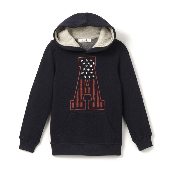 afbeelding Bedrukte sweater met kap 3-12 jr La Redoute Collections