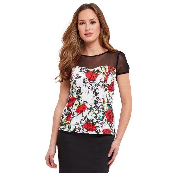 41f8683c520c6 Haut à manches courtes de style vintage joe browns femme blanc multi Joe  Browns   La Redoute