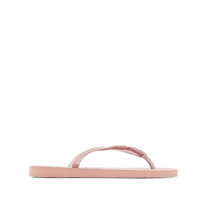 60eaa205855 Slim logo metallic flip flops