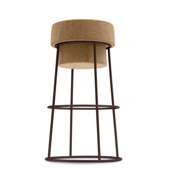tabouret plan de travail h65 cm bouchon acier li ge noir couleurs des alpes la redoute. Black Bedroom Furniture Sets. Home Design Ideas