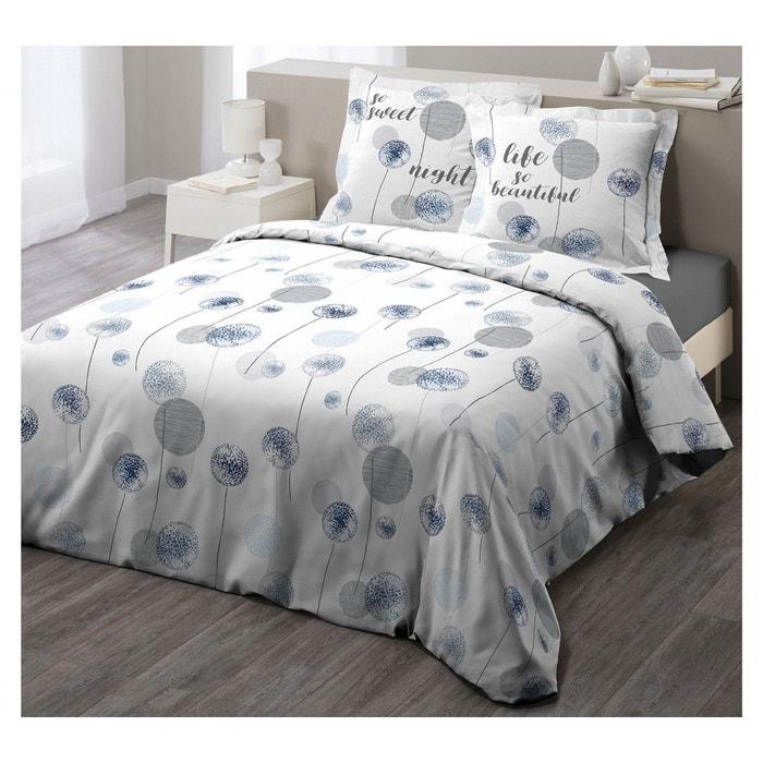 parure de lit tina bleue 240x220 blanc douceur d 39 int rieur la redoute. Black Bedroom Furniture Sets. Home Design Ideas