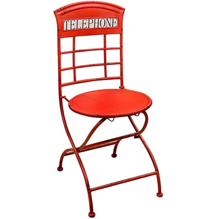 chaise en m tal vieilli london phonebox couleur unique united labels la redoute. Black Bedroom Furniture Sets. Home Design Ideas