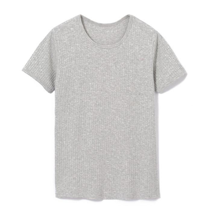 T-shirt lisa com gola redonda, mangas curtas  La Redoute Collections image 0