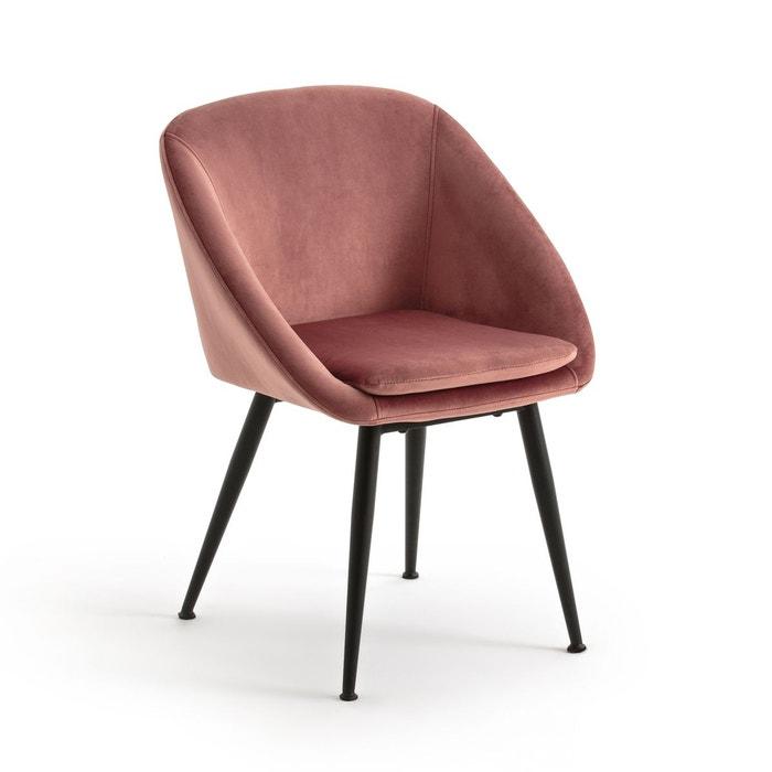 fauteuil de table en velours topim la redoute interieurs image 0 - Fauteuil De Table