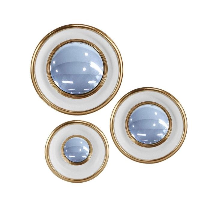 Lot de 3 miroirs convexes blanc emde premium la redoute for Miroir emde deco
