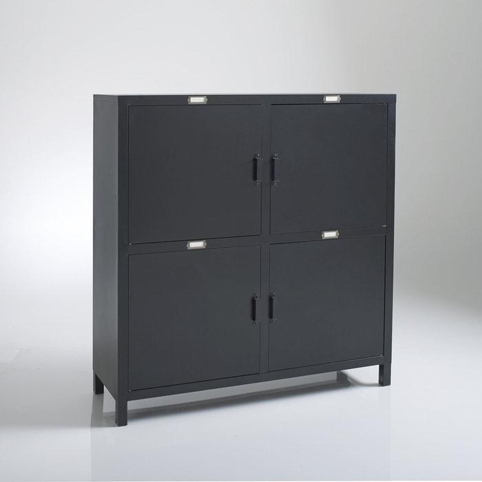 Hiba Steel 4-Door Cupboard  La Redoute Interieurs image 0