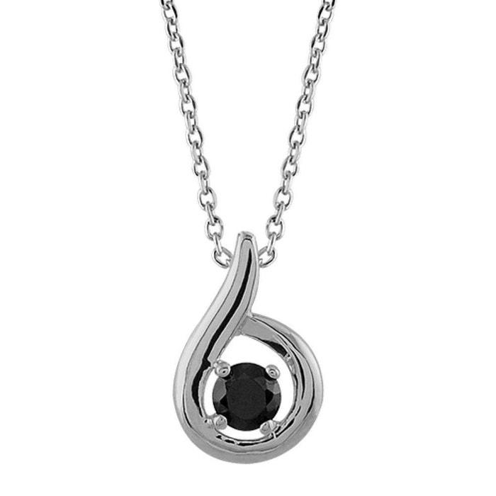 Collier femme 45 cm pendentif goutte solitaire oxyde de zirconium noir argent 925 couleur unique So Chic Bijoux | La Redoute Pour Pas Cher juScuKz
