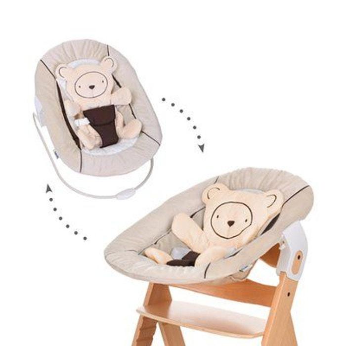 hauck le transat alpha bouncer 2en1 hearts beige lit b b. Black Bedroom Furniture Sets. Home Design Ideas