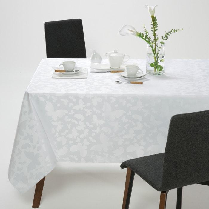 Image Nappe jacquard, 100% polyester, motifs papillons La Redoute Interieurs