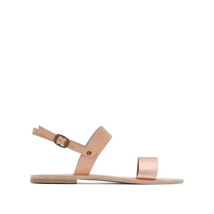Sandali pelle cinturino metalliscente  La Redoute Collections image 0