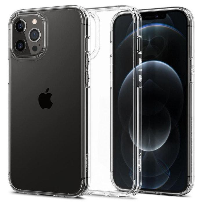 Coque pour iPhone 12 Pro Max (6,7) en polycarbonate et silicone transparente, Ultra Hybrid