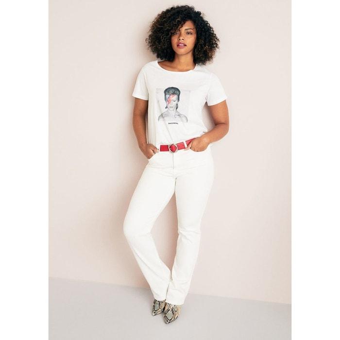 b76903fca2e0 Shirt Blanc La Redoute Imprimé Coton Mango Violeta By T Image 8IqdIv