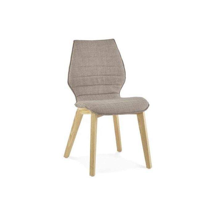 Chaise gris clair en tissu style scandinave halo gris declikdeco la redoute - Chaise scandinave la redoute ...