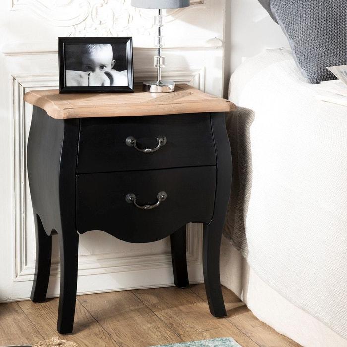 tiroirs Table romantique SALZBOURG chevet 2 de noire dCroexB