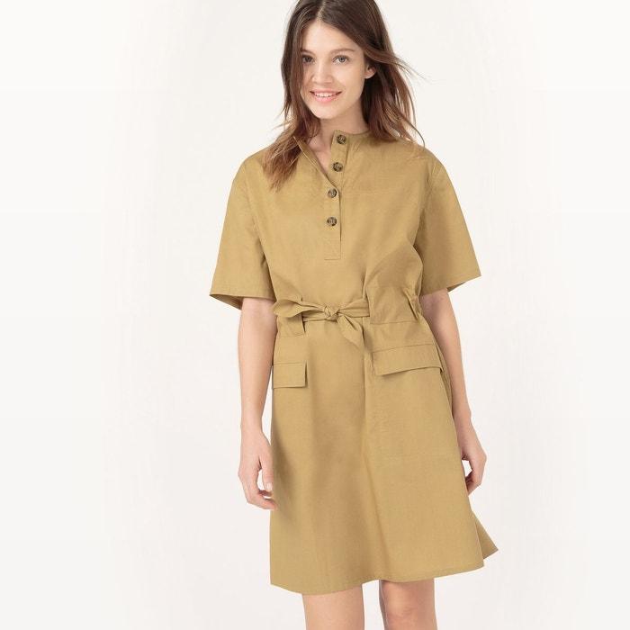 Robe à ceinturer, longueur genou, unie La Redoute Collections