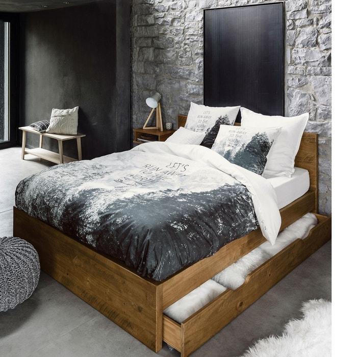 Housse de couette grand nord blanc noir la redoute for Housse de couette grand lit