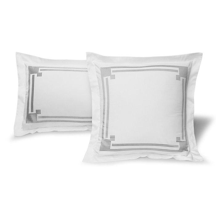 taie oreiller venise satin 120 fils 60x60 200/85 blanc tradition des
