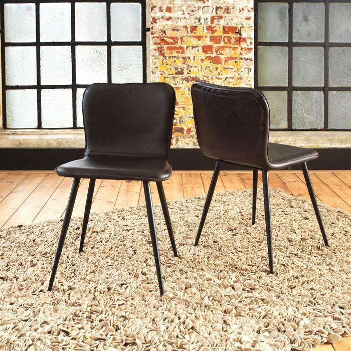 Chaise Design Cuir De Buffle Naturel
