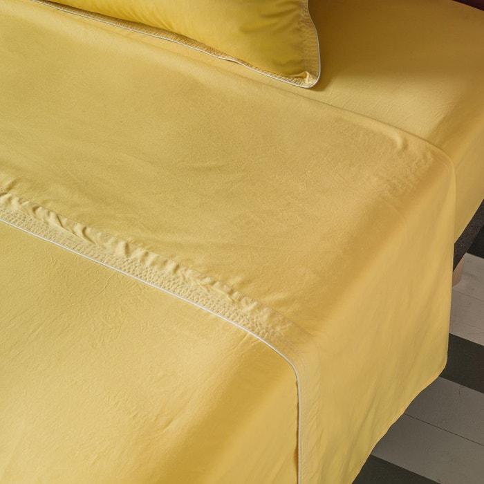 drap uni en percale lav e maison sarah lavoine maison sarah lavoine la redoute. Black Bedroom Furniture Sets. Home Design Ideas