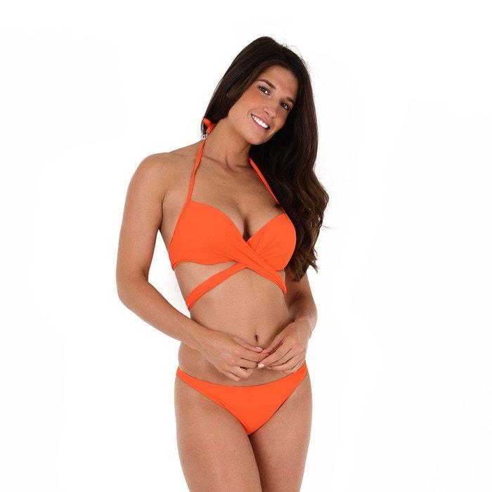 Maillot de Bain 2 Pièces Cache-Coeur Orange Unicool Pas Cher Vente Site Officiel Best-seller Prix Flambant Neuf Unisexe Pas Cher 2hzwn
