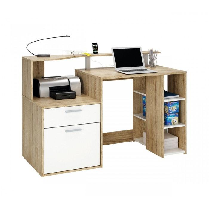 bureau ordinateur imitation ch ne bross bois naturel terre de nuit la redoute. Black Bedroom Furniture Sets. Home Design Ideas