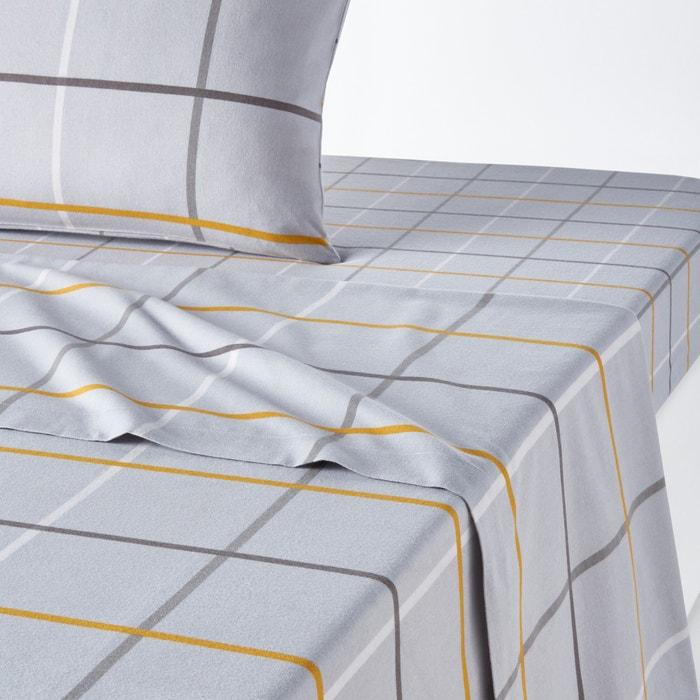 drap flanelle imprim e alpi imprim carreaux gris la. Black Bedroom Furniture Sets. Home Design Ideas