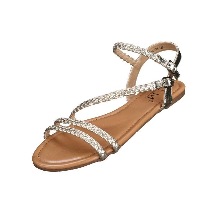Sandales à tresses  jaune Leader Mode  La Redoute